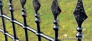 Шикарные металлические заборы из элементов Артеферро