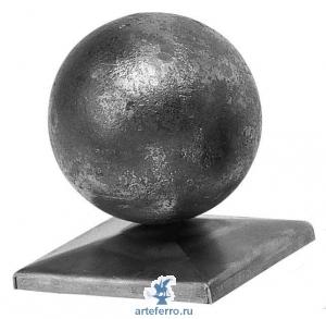 Навершие для столба с шаром, 65х65мм Ø70мм
