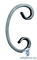 Завиток кованый 12х6мм, 60х115мм