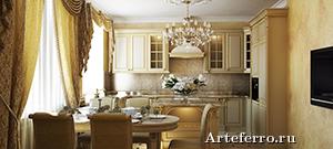 Мебель и интерьер. Кухня в классическом стиле