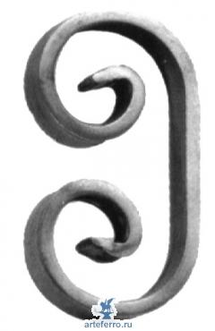 Завиток кованый 14х6мм, 60х115мм