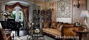 Применение ковки в дизайне интерьера домов