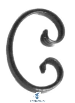 Завиток кованый 14х6мм, 70х105мм