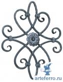 Розетка кованая с центр. цветком, заклепками 400х480