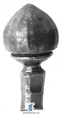 Наконечник на столб кованый Ø75мм