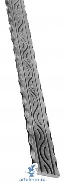 Поручень кованый с узором 40х8мм, L 3000мм