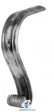 Окончание кованое для поручня 114/A/3  290х110мм