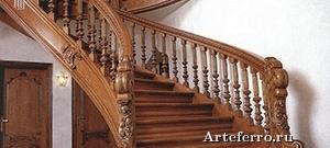 Использование деревянных лестниц в дизайне