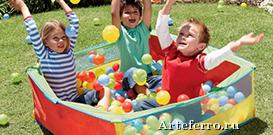 Сухие бассейны для детских площадок