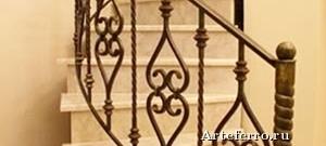 Кованые перила для лестниц и уход за ними