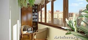 Виды внутренней отделки балкона