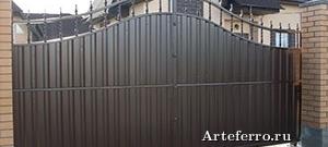 Откатные ворота – удобно просто и недорого