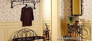 Элементы художественной ковки в интерьере квартиры