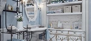 Мебель для ванной комнаты в стиле прованс