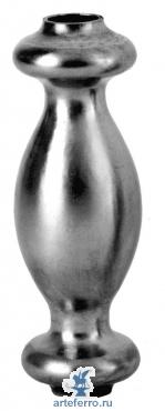 Вставка на балясину из трубы отв. Ø14мм, 40х120мм