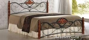 С какими стилями гармонирует кровать из ковки?