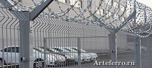 Секционный забор для режимных объектов