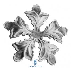Цветок штампованный Ø90мм, 2мм
