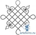 Декоративная кованая розетка Ø12мм, 630х630мм
