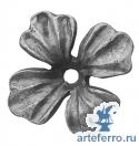 Цветок кованый 60х60х4мм