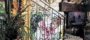Художественные кованые изделия - кованые лестничные ограждения