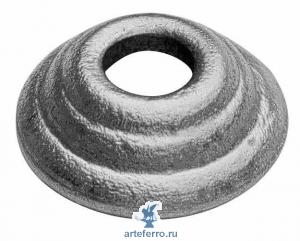 Подпятник литье Ø40мм с круг. отв. 12,5мм, Н 15мм