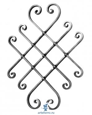 Декоративная панель раздвижная 16х8мм, 580х440-620х380мм