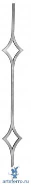 Балясина кованая 12мм с 2 ромбами Н 1000мм L 110мм