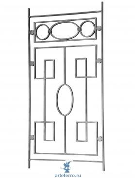 Декоративная кованая панель 14х8мм, L 495мм, Н 1000мм