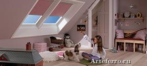 Мебель для детских комнат с мансардными окнами
