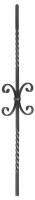 Балясина кованая с завитками 12х12мм, 165х900мм