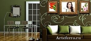 Интерьер комнаты: декор стен