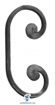 Завиток кованый 8х8мм, 90х180мм
