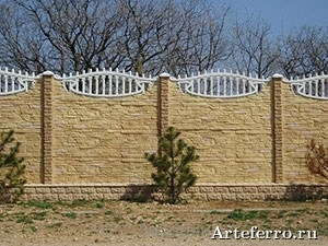 Забор из железобетона
