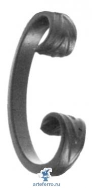 Завиток кованый 12х6мм, 60х110мм