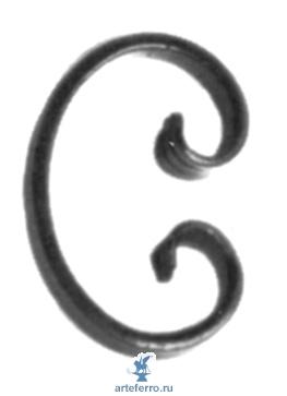 Завиток кованый 12х6мм, 70х105мм