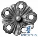 Кованый цветок Ø105мм, 4мм
