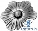 Кованый цветок Ø115мм, 4мм
