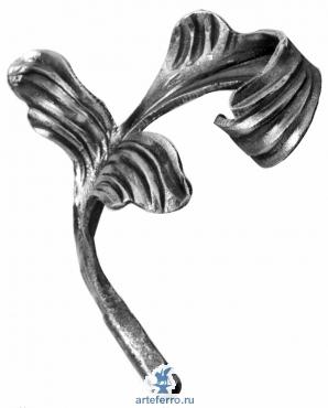 Кованый листок 180х130х4мм