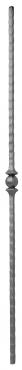 Балясина кованая 12х12мм с 1 шариком , H 1000мм