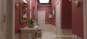 Дизайн интерьера коридора с использованием обоев