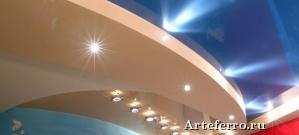 Двухуровневые натяжные потолки – современное решение для роскошного интерьера