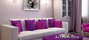 Сиреневый цвет в интерьере современных квартир