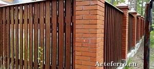 Деревянный забор – роскошь в простоте