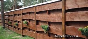 Способы оформления деревянного ограждения