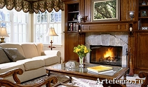 Interior hall interior with a fireplace 009434 27