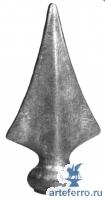 Пика кованая, основание Ø35мм, H 125мм