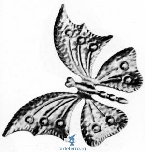 Бабочка штампованная 175х125х0,5мм