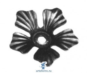 Цветок штампованный 88х17, 2мм