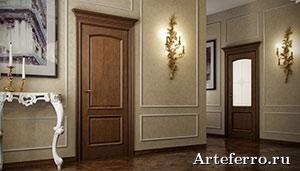 Дизайн дверей в гостиной